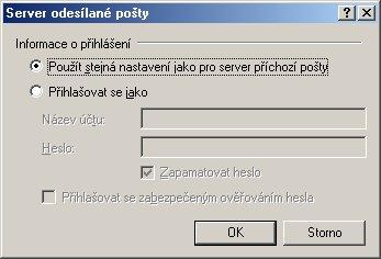 Outlook - nastavení emailového účtu 2