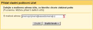 Gmail - nastavení stahování pošty - obrázek 3