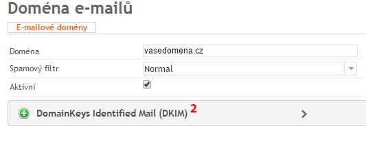 Přidání záznamu DKIM - krok 2