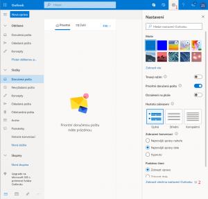 Nastavení  stahování pošty v Outlooku