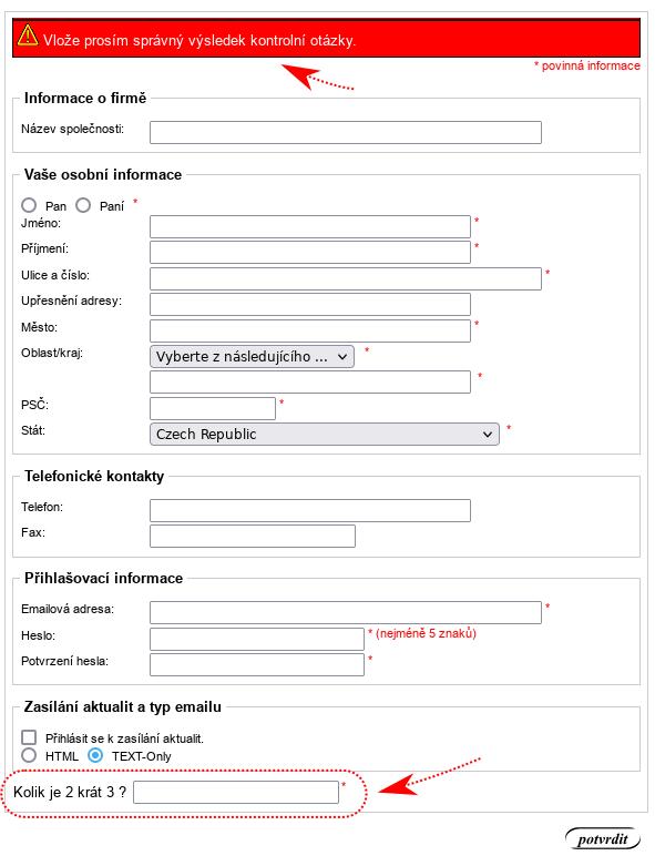 ZenCart Antispam modul Math Captcha - screenshot
